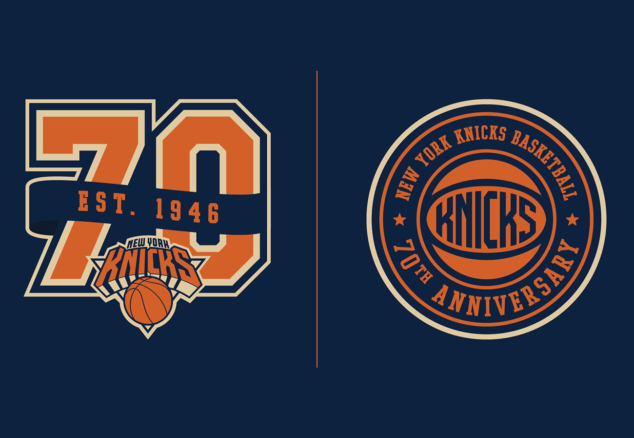 New York Knicks 70th Anniversary Logo(s)