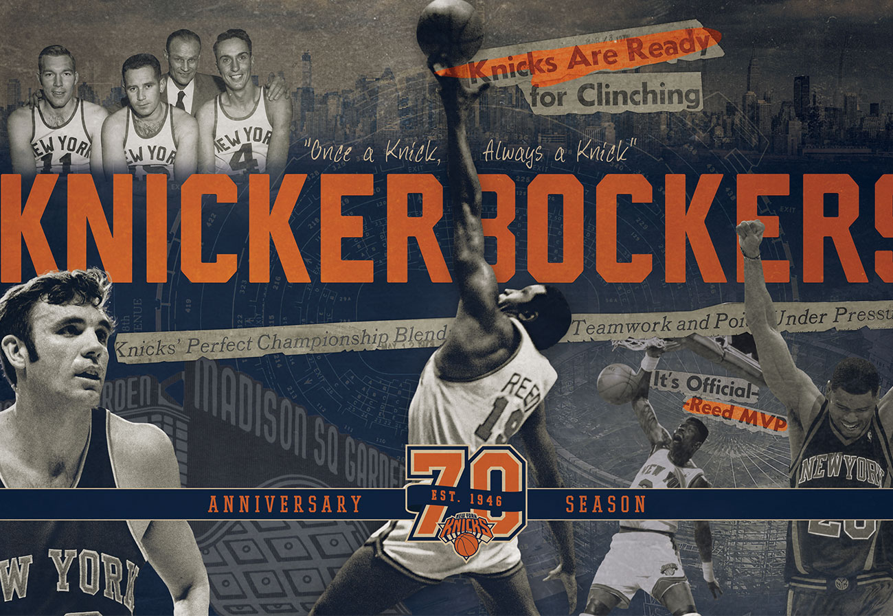 New York Knicks 70th Anniversary Creative Campaign
