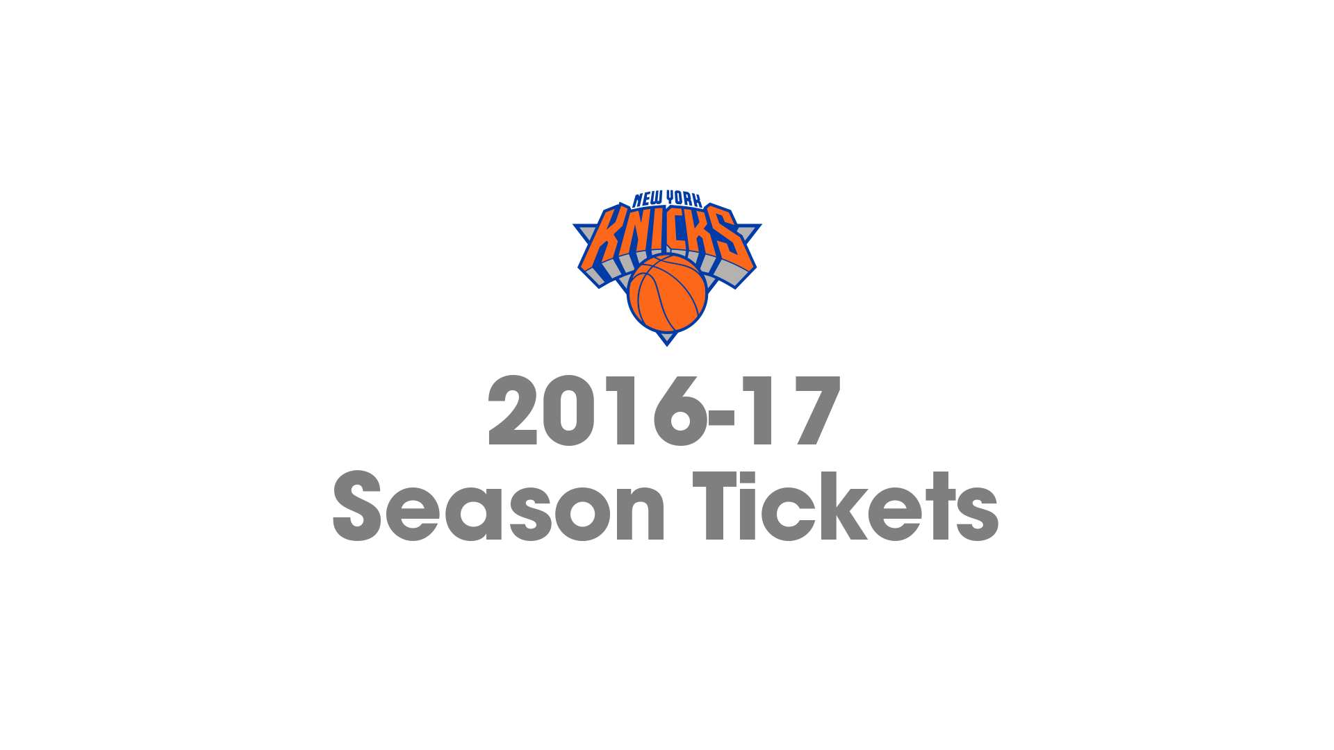 New York Knicks 2016-17 Season Tickets